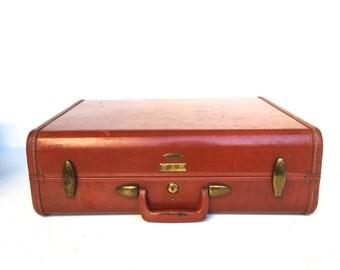 Vintage Rust Samsonite Suitcase,