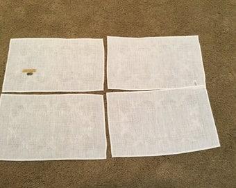 Set Of Four Irish Linen Lucheon Placemats