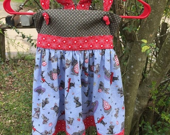 Blue Black and Red Benny Dress - Size 5