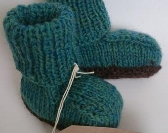 Baby Snugs - booties - Peruvian Highland wool - wool booties