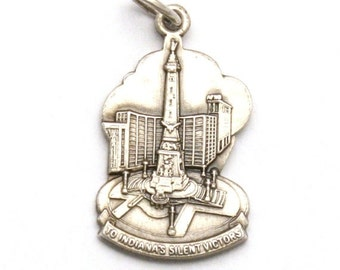 ON SALE Soldiers and Sailors Monument Bracelet Charm Vintage Heritage Sterling Silver Indianapolis Indiana