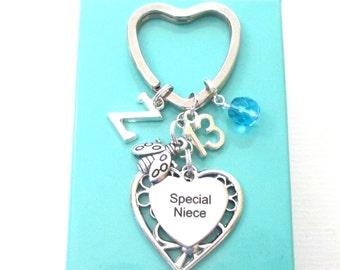 Special Niece gift - 13th birthday gift for niece - Niece keyring - Ladybug keychain - Birthstone keyring for niece - Niece 13th - Etsy UK