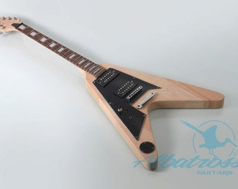 DIY Mahogany Left Handed Electric Guitar Kit Bolt On Mahogany Neck UNFINISHED GK009L