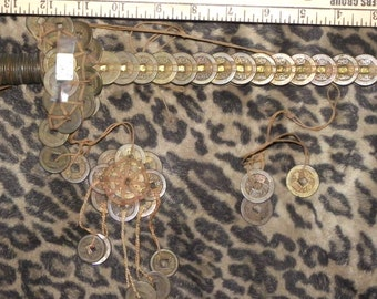 Ancient Chinese sword like made with cash coins GOOD LUCK fENG sHUI