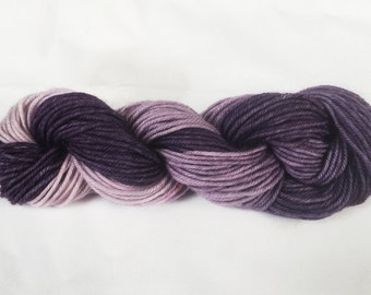 Purple Haze - Hand Dyed Merino Superwash Wool - Sport Weight