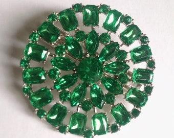 Green Crystal Hair Jewelry