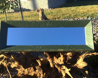 Reclaimed pine accent mirror