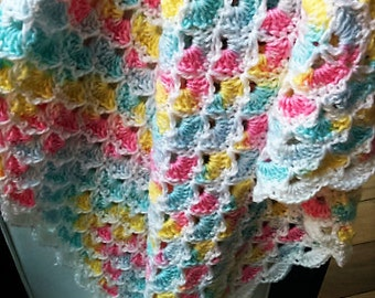 Crocheted Baby Shells Afghan