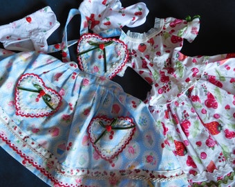 SD kawaii cherry-Muffin outfit, 5 parts!