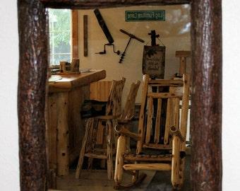 Hickory log medicine cabinet - Hickory medicine cabinet with mirror ...