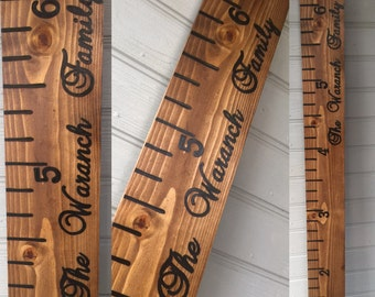 Personalized 6 Ft Hand Painted Wooden Growth Chart Ruler; measuring stick; growth chart; growth ruler; newborn gift; wooden ruler; ruler
