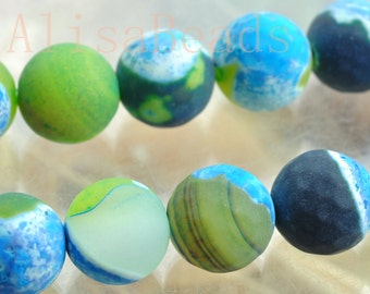 Rainbow Agate,faceted and matte round ,10mm,beads,15 inches