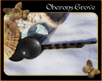10 hair pin settings bronze with 18mm cabochons
