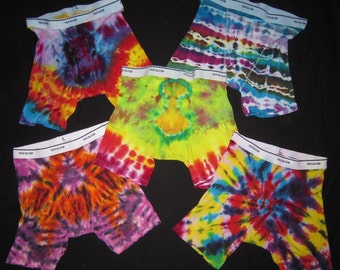 Tie Dye Men's Boxer Briefs, size Large. 2nd photo is the backside.