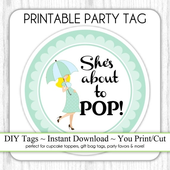 she 39 s about to pop baby shower printable mint green baby bump about