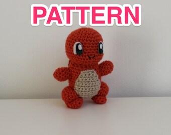 cute charmander pokémon crochet pattern