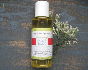 Flavored Massage Oil - An Edible Massage - Valentine's Body Oil - Skin Oil - Couples Gift - His and Hers