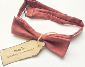 mens bow tie, skinny bow tie, silk bow tie, red bow tie,