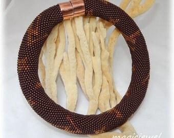 LV brown » bead crochet rope