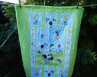 Handmade Sheep Baby Quilt