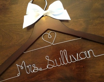 CYBER SALE Wedding hanger, double row, Bride hanger, Bridesmaid hanger, Personalized wedding hanger, Wedding dress hanger, Custom hangers