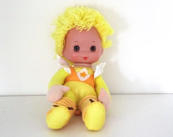 Vintage 80s Rainbow Brite doll Canary yellow 1983