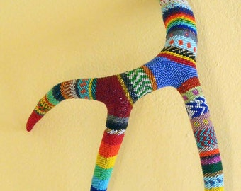 Peyote Stitch Hand-Beaded Naturally-Shed Antler — OOAK Southwestern Art — free shipping in the US