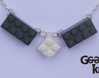 Building block statement necklace