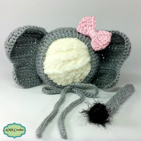 Crochet Pattern For Baby Elephant Hat : Crochet Pattern Newborn Elephant Hat and Unattached by ...