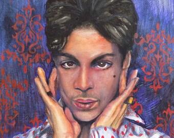 Prince (matted print) 11x14