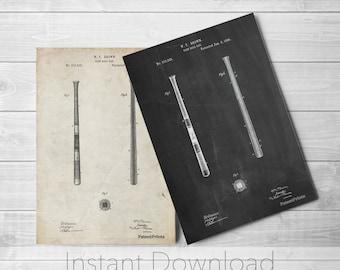 Baseball Bat Printables, Vintage Baseball Decor, Boys Room Wall Art, Boys Room Wall Art. PP0539