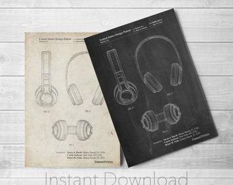 Bluetooth Headphones Printables, Music Lover Gift, Hip Hop Art, Teen Room Art, Recording Studio, PP0596
