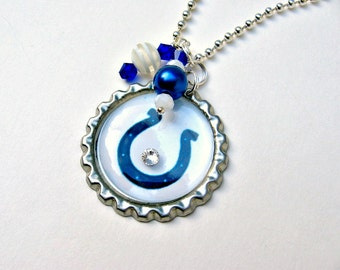 Indianapolis Colts Necklace, Indianapolis Colts Jewelry, Colts Accessories, Colts Women, Colts Necklace, Football Jewelry, Colts Fan Wear
