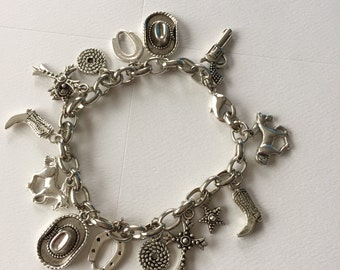 Western Cowgirl Charm Bracelet