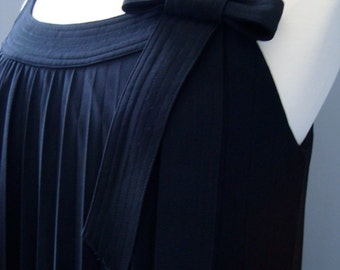"Vintage ""Robbie Bee"" Pleated LBD with Bow"