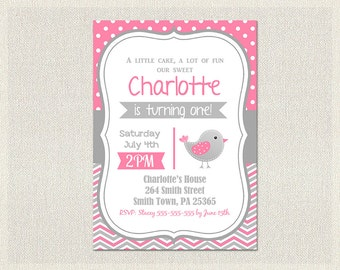 Invitation bird Etsy