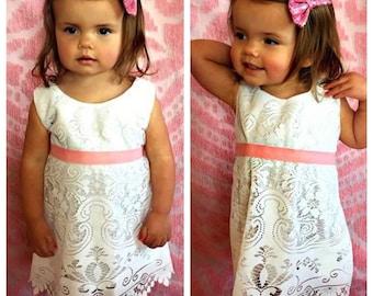 Crochet lace dress, flower girl dress, lace flower girl dress, boho flower girl dress, boho dress, boho lace dress, bohemian dress,