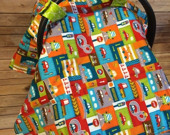 Handmade Cotton Transportation Baby Car Seat Canopy Cover