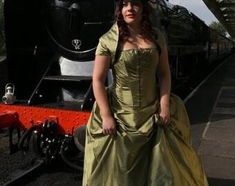 Alternative wedding dress, Gothic wedding dress, Steampunk wedding dress, Steampunk corset, skirt and bolero, Alternative bridal gown.