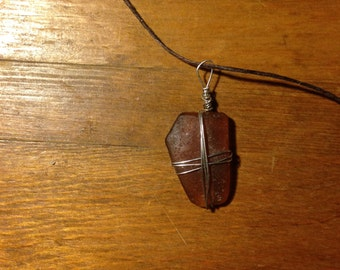 Hand-wrapped Sea Glass Necklace