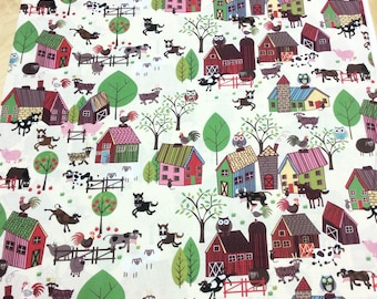 Patchwork Quilting Fabric In the Beginning Home to Roost Farm 5HD-2