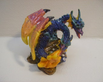 Two Headed Dragon Figurine Decorative n943