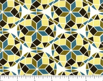 Joel Dewberry fabric Birch Farm Prism JD95 Egg Blue olive green yellow white brown abstract stars Freespirit 100% cotton fabric by the yard