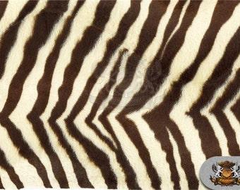 Zebra Beige Velboa Animal Print Fabric Sold by the Yard