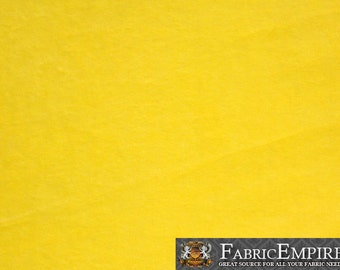 Minky Solid YELLOW Fabric By the Yard