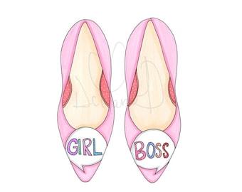Fashion illustration, Girl Boss print, Girl Boss illustration, Girl boss Sophia Webster, Fashion girl illustration, Pictures for girls room
