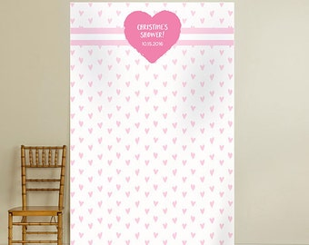 Heart Baby Shower Photo Booth Backdrop (ENWF)