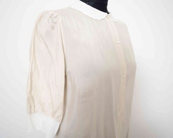 Peter Pan Collar Shirt Small