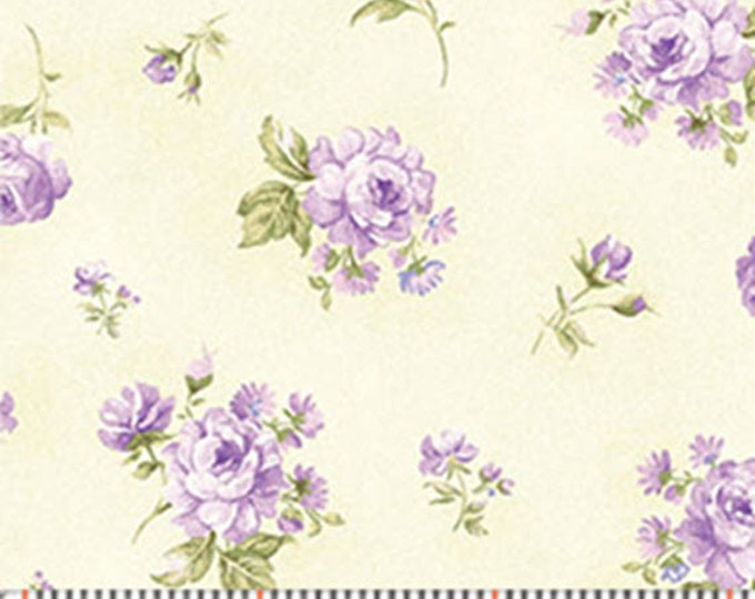 One Yard Zoey - Zoey in Wisteria Purple - Floral Cotton Quilt Fabric - Eleanor Burns for Benartex Fabrics - 718-60 (W3513) Christine