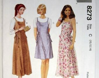 McCall's 8273 Misses' Jumper Or Sundress Sizes 10 - 14 Uncut
